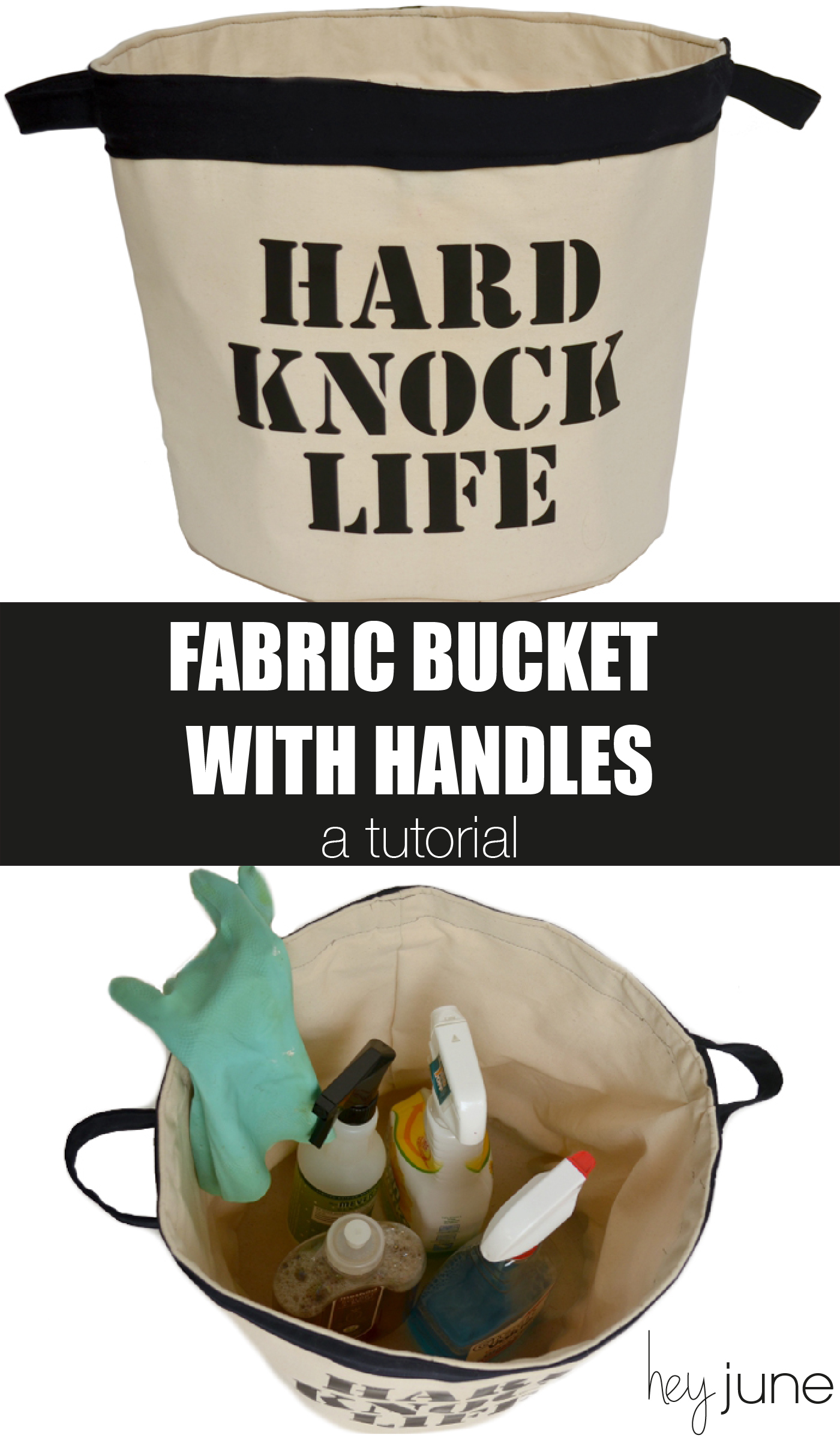HardKnockLifeBucket2-02Hard Knock Bucket - free pattern  for a fabric bucket with handles from Hey June Handmade