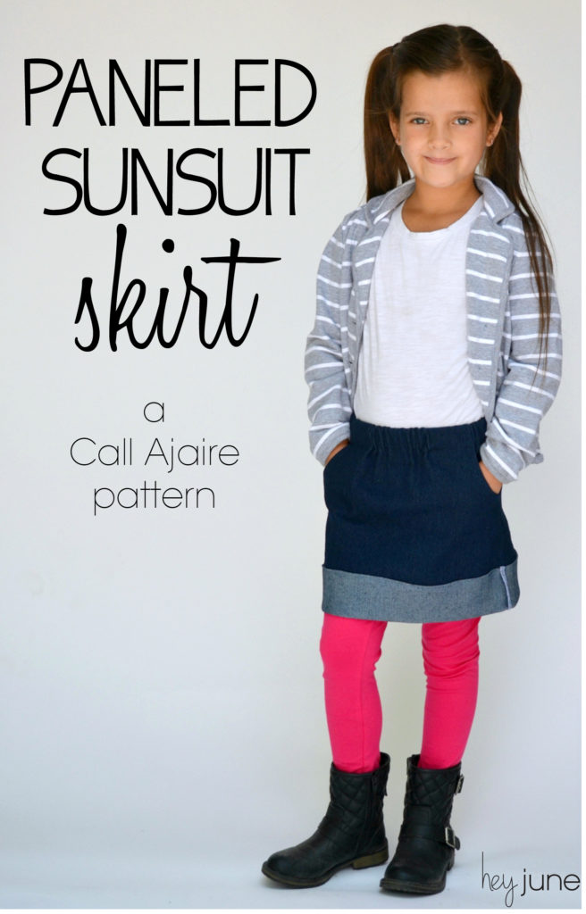 Paneled Sunsuit Skirt by Call Ajaire.  Sewn by Hey June Handmade
