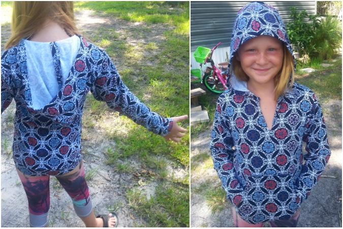 The Hatteras Hoodie pdf pattern from Hey June Handmade