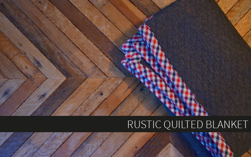 Project Linus Make A Rustic Quilted Blanket Hey June Handmade