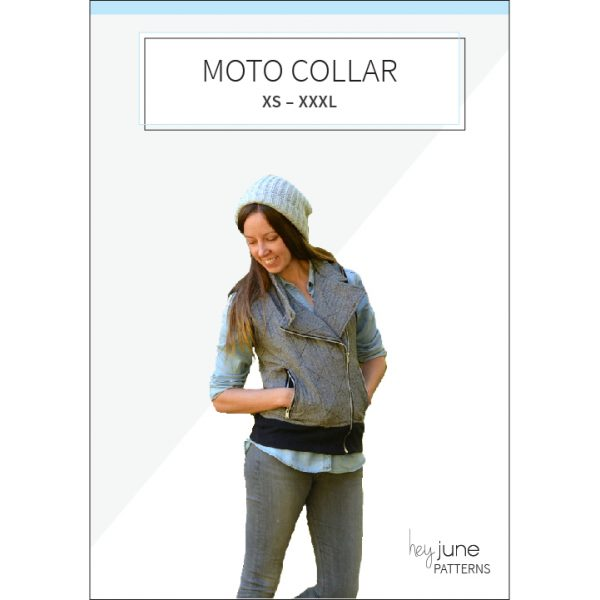 Evergreen Moto Collar Pattern