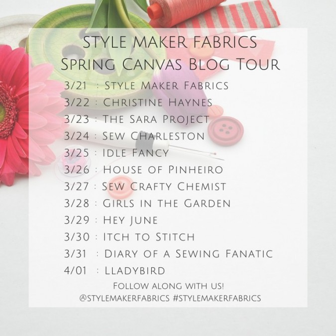 Style Maker Fabrics Blog Tour Dates