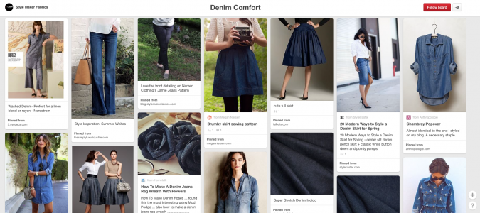 Denim Comfort Pinterest Board