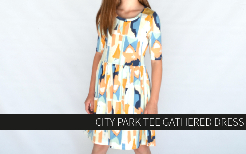 City Park Tee Gathered Dress