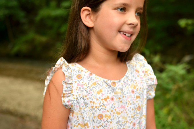 FREE Ruffle Sleeve for the Linville Romper and Dress from Hey June Handmade