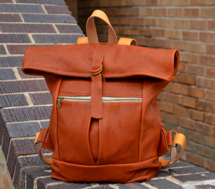 The Range Backpack from Noodlehead, sewn by Hey June Handmade