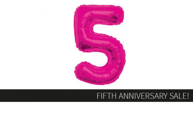 FIFTH ANNIVERSARY SALE