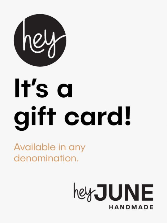 Hey June Handmade gift card