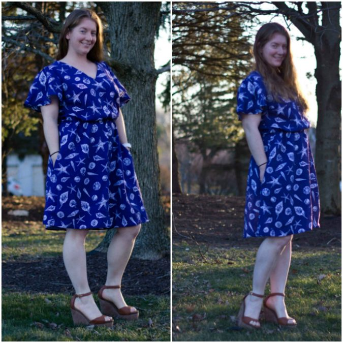 b0d9cdcf287 Cori made the perfect dress for a beach vacation! I can just imagine family  photos at the beach or a nice oceanside dinner in this pretty  nautical-inspired ...