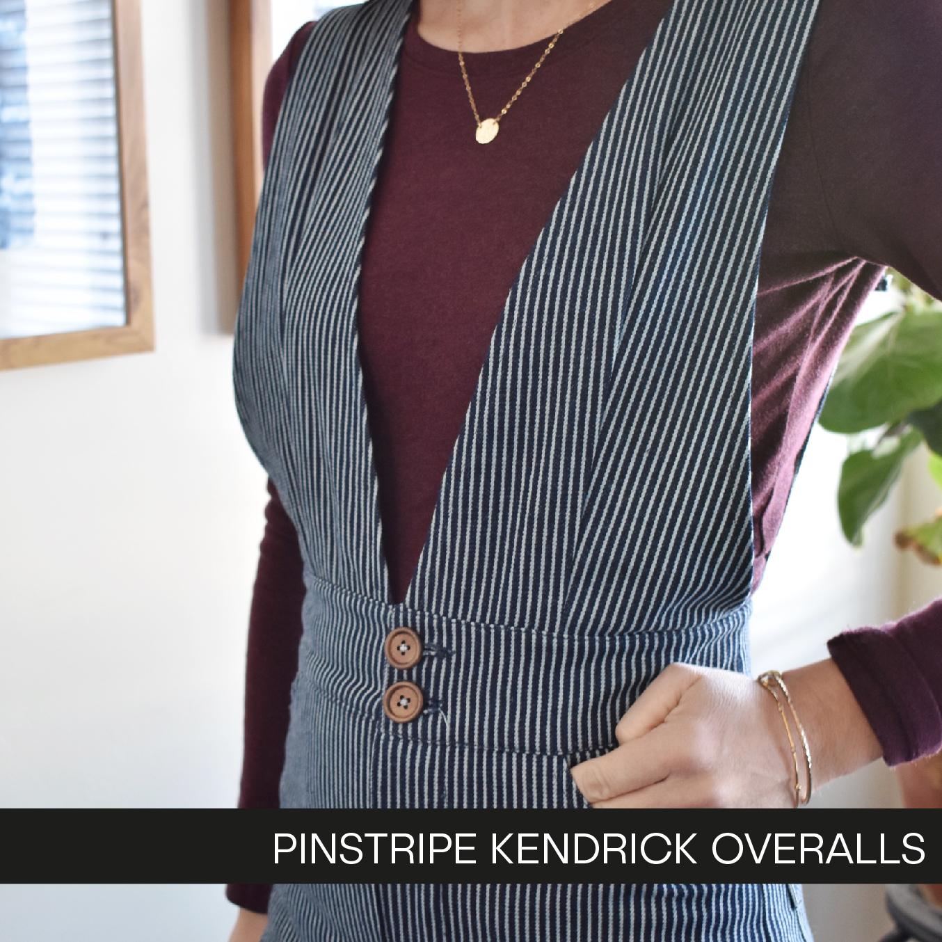 f7d6774f Pinstripe Kendrick Overalls - Hey June Handmade