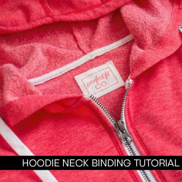 Hoodie Neck Binding Tutorial