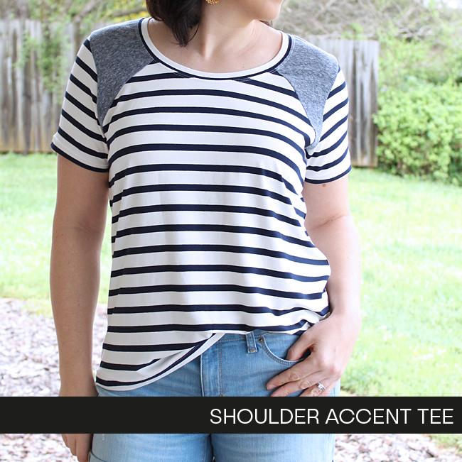 Shoulder Accent Tee