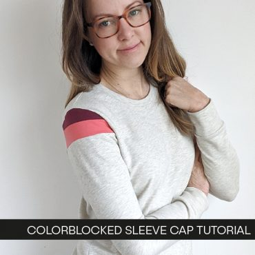 Colorblocked Sleeve Cap Tutorial